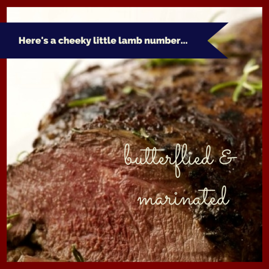 Marinated Butterflied Lamb