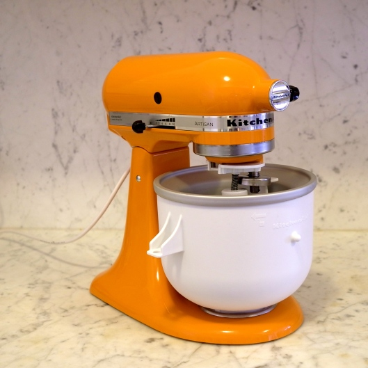 Tangerine Kitchen Aid and Ice Cream Maker Attachment