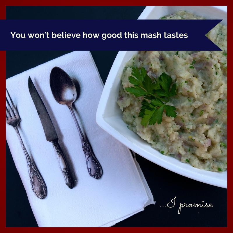 HELLISHLY GOOD Herbed Parsnip and Celeriac Mash with Caramelised ...