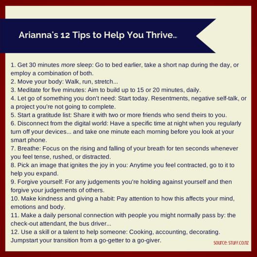 Arianna Huffington's 12 Steps