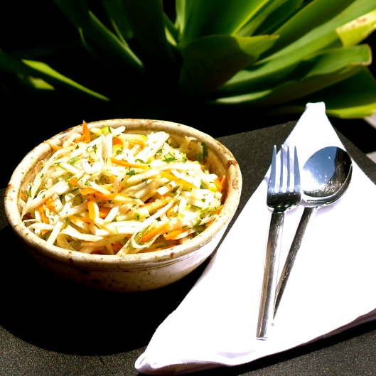 TSL Kohlrabi, Carrot and Apple Salad